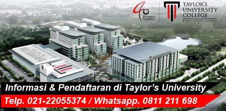 biaya kuliah di taylors university malaysia